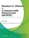 Humbert G Diienno V Commonwealth Pennsylvania