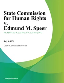 STATE COMMISSION FOR HUMAN RIGHTS V. EDMUND M. SPEER