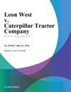 Leon West V Caterpillar Tractor Company