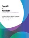 People V Sanders