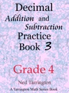 Decimal Addition And Subtraction Practice Book 3 Grade 4