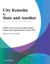 City Kenosha V State And Another