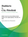 Daddario V City Pittsfield