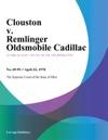 Clouston V Remlinger Oldsmobile Cadillac