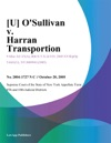 Osullivan V Harran Transportion
