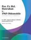 Peo Ex Rel Hanrahan V 1965 Oldsmobile