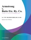 Armstrong V Butte Etc Ry Co