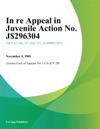 In Re Appeal In Juvenile Action No J-96304