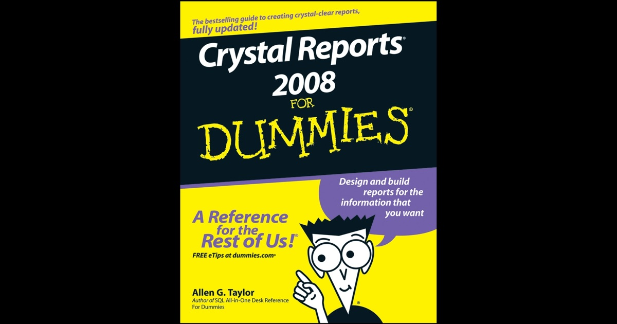 crystal report books Crystal reports 10 for dummies - ebook written by allen g taylor read this book using google play books app on your pc, android, ios devices download for offline.