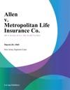 Allen V Metropolitan Life Insurance Co