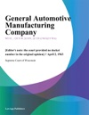General Automotive Manufacturing Company