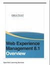 Web Experience Management Overview
