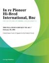 In Re Pioneer Hi-Bred International