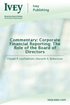 Commentary Corporate Financial Reporting The Role Of The Board Of Directors