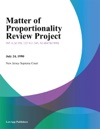 Matter Of Proportionality Review Project