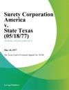 Surety Corporation America V State Texas