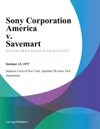 Sony Corporation America V Savemart
