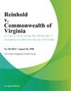 Reinhold V Commonwealth Of Virginia