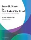 Jesse B Stone V Salt Lake City Et Al