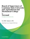 Board Of Supervisors Of Louisiana State University And Agricultural And Mechanical College V Tureaud