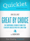 Quicklet On Jim Collins Great By Choice