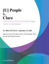 U People V Clare