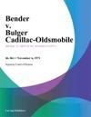 Bender V Bulger Cadillac-Oldsmobile