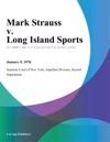 Mark Strauss V Long Island Sports