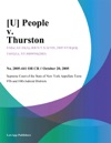 U People V Thurston