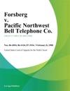 Forsberg V Pacific Northwest Bell Telephone Co