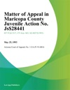 Matter Of Appeal In Maricopa County Juvenile Action No Js-8441