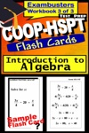 COOP-HSPT Test Prep Algebra Review--Exambusters Flash Cards--Workbook 3 Of 3