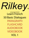 Learn French 50 Dialogues Textbook Audiobook Flashcards Video