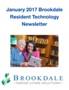 January 2017 Brookdale Resident Technology Newsletter