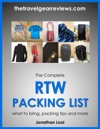 The Complete RTW Packing List What To Bring Packing Tips Packing Light And More
