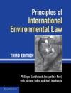 Principles Of International Environmental Law Third Edition