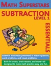 Math Superstars Subtraction Level 1 Helps Children Learn To Subtract