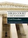 High Court Case Summaries Civil Procedure Keyed To Marcus 6th