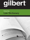 Gilbert Pocket Size Law Dictionary 3d