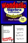 Wonderlic Test Prep Algebra Review--Exambusters Flash Cards--Workbook 3 Of 3