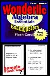 Wonderlic Test Prep Algebra Review--Exambusters Flash Cards--Workbook 3 Of 3