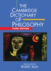 The Cambridge Dictionary Of Philosophy Third Edition