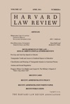 Harvard Law Review Volume 127 Number 6 - April 2014