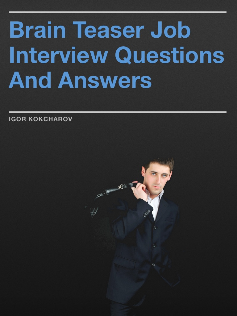 interview brain teasers with answers pdf