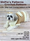 179 Dog Coat Crochet Pattern USA 179