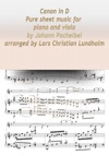 Canon In D Pure Sheet Music For Piano And Viola By Johann Pachelbel Arranged By Lars Christian Lundholm