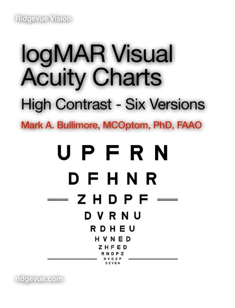 logmar chart: Logmar visual acuity charts six versions by mark bullimore on ibooks