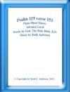 Psalm 119 Verse 151 Piano Sheet  Music-Advance Level