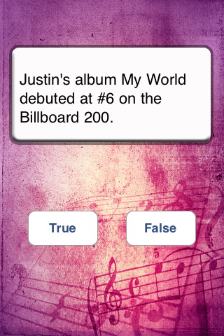 Justin Bieber: True or False screenshot 3