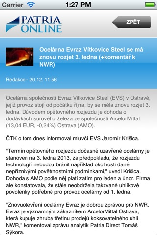 Patria.CZ screenshot 2